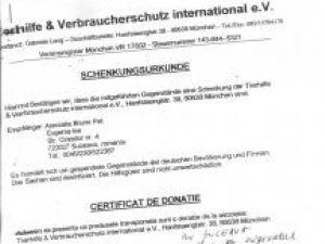 Protecţia animalelor: Haine, aparatură video şi cârje din Germania pentru câinii din adăpostul de la Mitoc