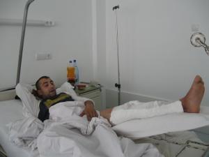 Tiberiu Feraru, tânărul împuşcat în picior de un poliţist