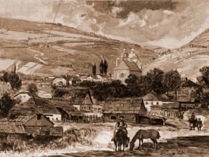 Vatra Dornei – desen de Mattias Adolf Charlemont (1820-1871)