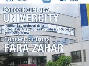 Concert cu trupa Fără Zahăr, săptămâna viitoare, la Universitatea Suceava