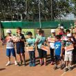 Peste 40 de copii cu vârste cuprinse între 4 şi 9 ani au participat la Cupa de tenis Monitorul