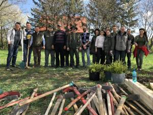 Garda Forestieră Suceava a plantat puieți de arbori la Monumentul Eroilor Români