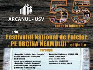 Ansamblul Arcanul USV aniversează 55 de ani de existență printr-un concert la Casa de Cultură