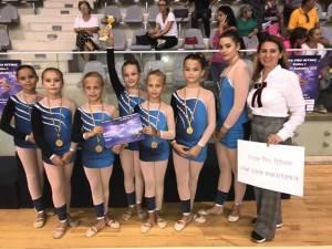 Elevi suceveni, premiaţi la Concursul de gimnastică ''Cupa Pro Ritmic'' de la Bucureşti