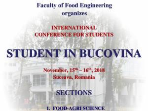 """Conferinţa internaţională """"Student in Bucovina"""" 2018"""