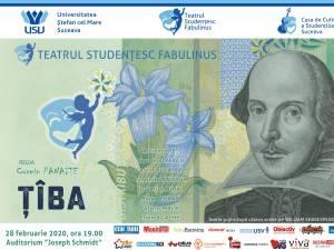 """Spectacolul """"Ţîba"""", cu teatrul """"Fabulinus"""", astăzi, pe scena Universității"""