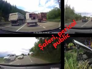 """""""Concurs"""" de depășiri kamikaze, între șoferii de autoturisme și cei de vehicule grele"""
