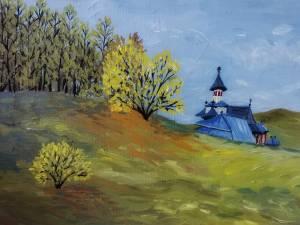 """Expoziția de pictură """"Peisaje și portrete"""", realizată de Andreea Adamovici, la Biblioteca Bucovinei"""