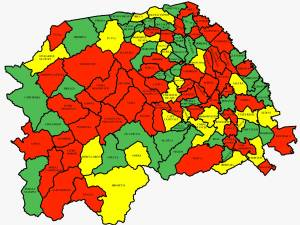 O singură localitate din județ cu zero cazuri de Covid; aproape 900 de cazuri în municipiul Suceava